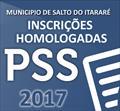 Inscrições Homologadas PSS 02/2017